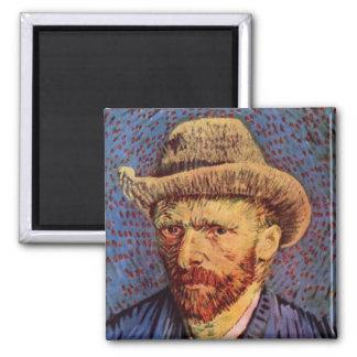 Vincent van Gogh - Self-Portrait with Felt Hat Fridge Magnet