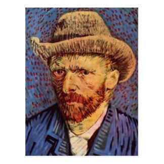 Vincent van Gogh - Self-Portrait with Felt Hat Postcard