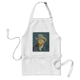 Vincent Van Gogh Self Portrait with Grey Felt Hat Adult Apron
