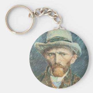 Vincent Van Gogh Self Portrait with Grey Felt Hat Basic Round Button Keychain