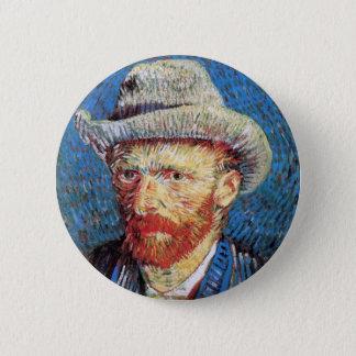 Vincent Van Gogh Self Portrait With Grey Felt Hat Button