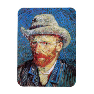Vincent Van Gogh Self Portrait With Grey Felt Hat Magnet