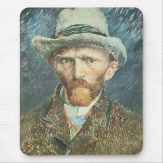 Vincent Van Gogh Self Portrait with Grey Felt Hat Mouse Pad
