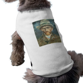 Vincent Van Gogh Self Portrait with Grey Felt Hat Shirt