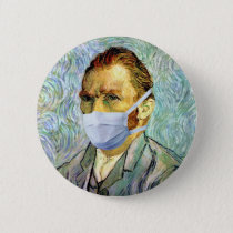 Vincent Van Gogh Self Portrait With Mask Spoof Button