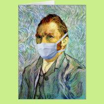 Vincent Van Gogh Self Portrait With Mask Spoof Card