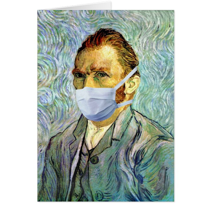 Vincent Van Gogh Self Portrait With Mask Spoof Card