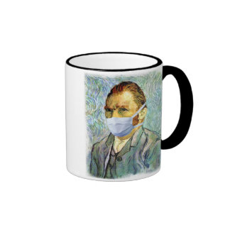 Vincent Van Gogh Self Portrait With Mask Spoof Ringer Mug