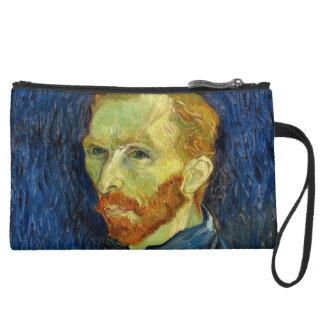 Vincent Van Gogh Self Portrait With Palette Wristlet Clutch