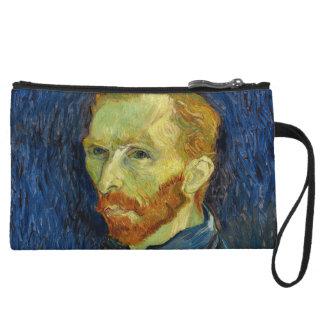 Vincent Van Gogh Self Portrait With Palette Wristlet Purses