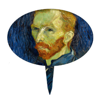 Vincent Van Gogh Self Portrait With Palette Cake Topper