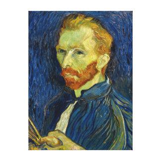 Vincent Van Gogh Self Portrait With Palette Canvas Print