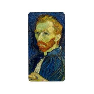 Vincent Van Gogh Self Portrait With Palette Label