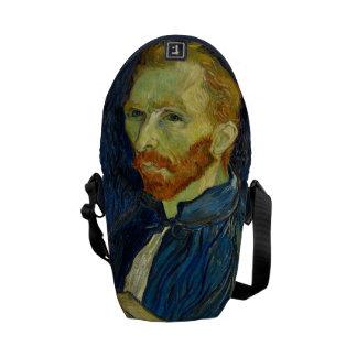 Vincent Van Gogh Self Portrait With Palette Messenger Bag