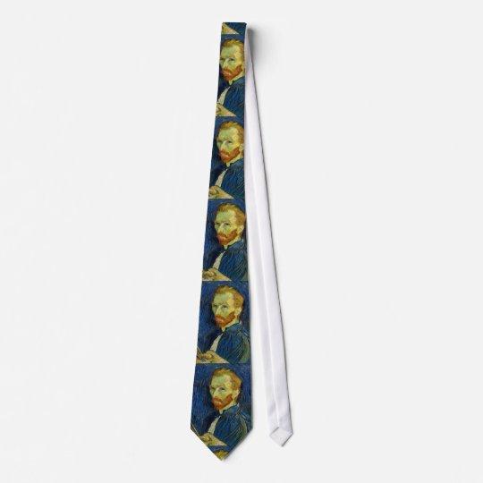Vincent Van Gogh Self Portrait With Palette Neck Tie