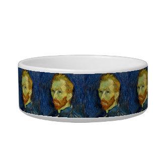 Vincent Van Gogh Self Portrait With Palette Cat Food Bowls