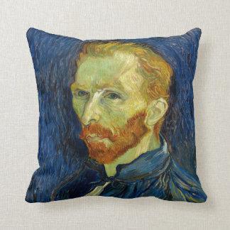 Vincent Van Gogh Self Portrait With Palette Throw Pillow