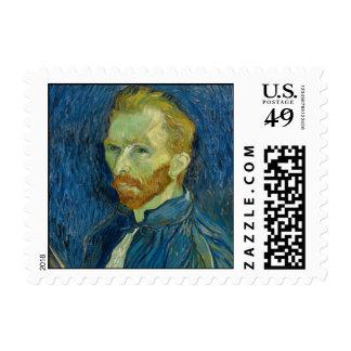 Vincent Van Gogh Self Portrait With Palette Postage