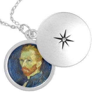 Vincent Van Gogh Self Portrait With Palette Round Locket Necklace