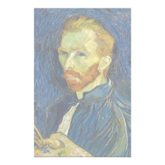 Vincent Van Gogh Self Portrait With Palette Stationery