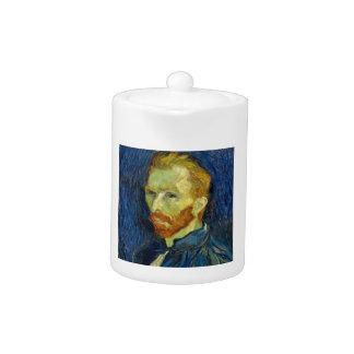 Vincent Van Gogh Self Portrait With Palette Teapot