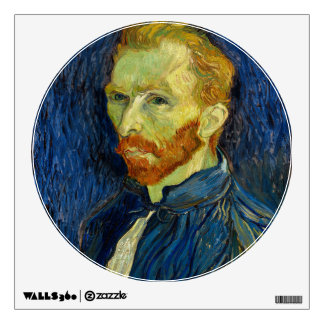 Vincent Van Gogh Self Portrait With Palette Wall Decal