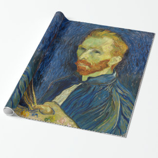 Vincent Van Gogh Self Portrait With Palette Wrapping Paper
