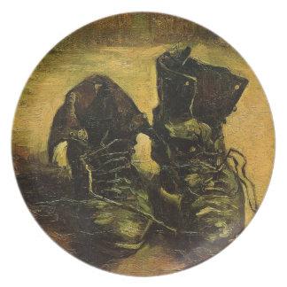 Vincent Van Gogh Shoes Party Plate