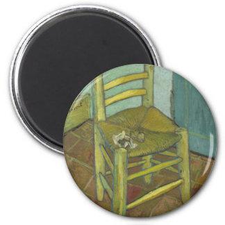 Vincent van Gogh - silla con el vendaje Imán Redondo 5 Cm