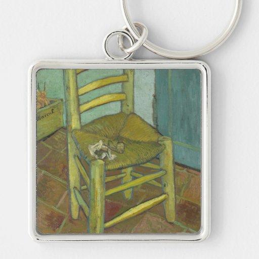 Vincent van Gogh - silla con el vendaje Llaveros