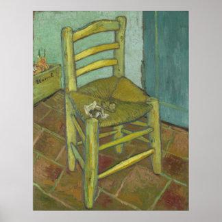 Vincent van Gogh - silla con el vendaje Póster