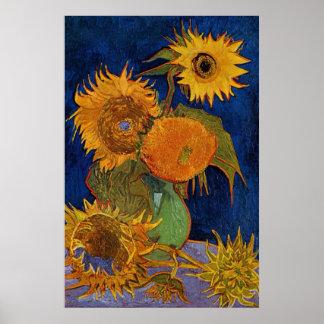 Vincent van Gogh Six Sunflowers GalleryHD Fine Art Poster