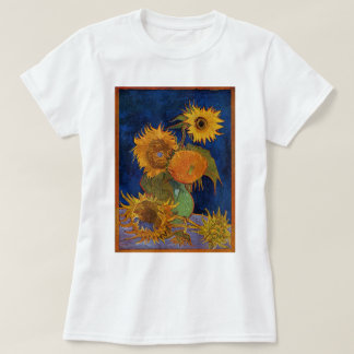 Vincent van Gogh Six Sunflowers GalleryHD Fine Art T-Shirt
