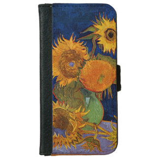 Vincent van Gogh Six Sunflowers GalleryHD Fine Art Wallet Phone Case For iPhone 6/6s