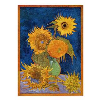 Vincent Van Gogh Six Sunflowers Photo Enlargement