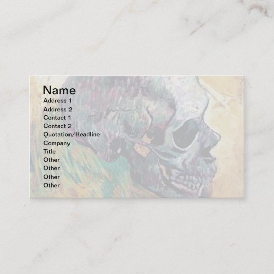 Vincent van gogh skull in profile fine art business card vincent van gogh skull in profile fine art business card colourmoves