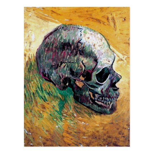 Vincent Van Gogh - Skull In Profile - Fine Art Postcard