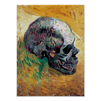 Vincent Van Gogh - Skull In Profile - Fine Art Poster