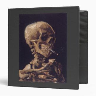 Vincent Van Gogh Skull with a Burning Cigarette Vinyl Binders