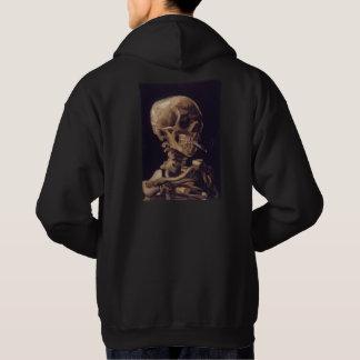 Vincent Van Gogh Skull with a Burning Cigarette Hooded Sweatshirt