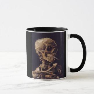 Vincent Van Gogh Skull with a Burning Cigarette Mug