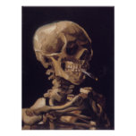 Vincent Van Gogh Skull with a Burning Cigarette Print