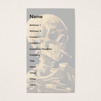 Vincent Van Gogh - Skull With Burning Cigarette Business Card