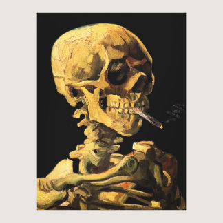 Vincent Van Gogh - Skull With Burning Cigarette Canvas Print