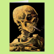 Vincent Van Gogh - Skull With Burning Cigarette Card