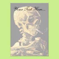 Vincent Van Gogh - Skull With Burning Cigarette Card