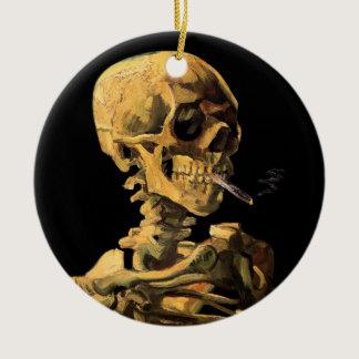 Vincent Van Gogh - Skull With Burning Cigarette Ceramic Ornament