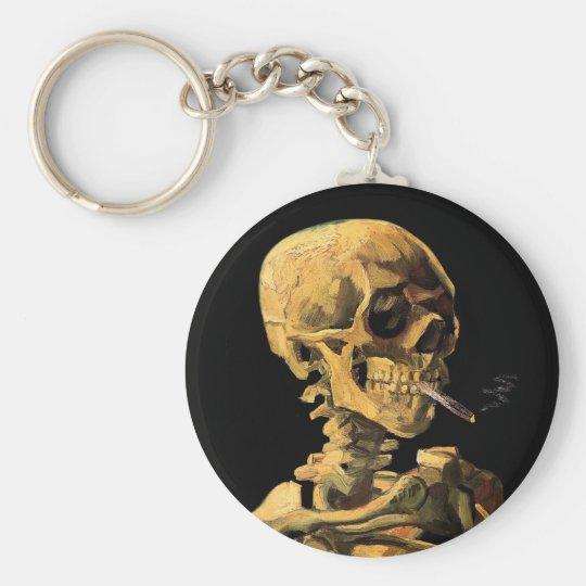 Vincent Van Gogh - Skull With Burning Cigarette Keychain