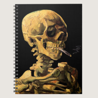 Vincent Van Gogh - Skull With Burning Cigarette Notebook