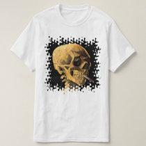 Vincent Van Gogh - Skull With Burning Cigarette T-Shirt